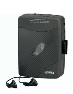 Jensen Portable Compact Design Stereo Cassette Player w/AM/F