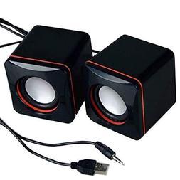 IdealHouse Portable Computer Speakers USB Powered Desktop Mi