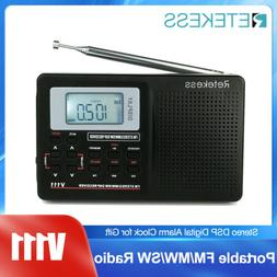 Portable DSP FM Stereo/MW/SW Radio World Band Receiver Digit