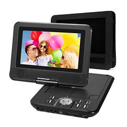 NAVISKAUTO 7 Inch HD Portable DVD/CD/MP3 Player USB/SD Card