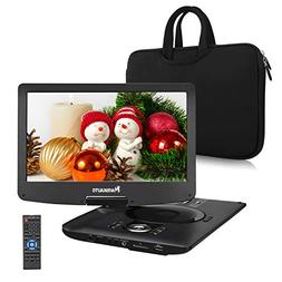"12.5"" Portable DVD Player with 1366x768 HD Swivel Screen and"