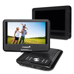 NAVISKAUTO 9 Inch Portable DVD/CD/MP3 Player USB/SD Card Rea