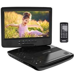 """HD JUNTUNKOR 12.5"""" Portable DVD Player with 5 Hrs Rechargeab"""