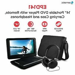 "Ematic 14"" Portable DVD Player with Remote Carrying Case and"