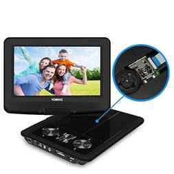 """SYNAGY 9"""" Portable DVD Player CD Player with Swivel Screen R"""