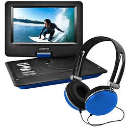 """Ematic 10"""" Portable DVD Player with Headphones and Car Headr"""