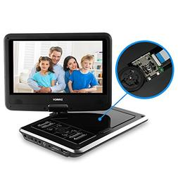 """Portable DVD Player for Car, SYNAGY 9"""" Mobile DVD Player wit"""