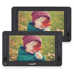 "NAVISKAUTO 10.1"" Portable DVD Player Dual Screen Car Headres"