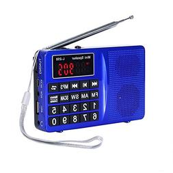 LCJ Portable FM AM Shortwave Multiband Radio Receiver with M