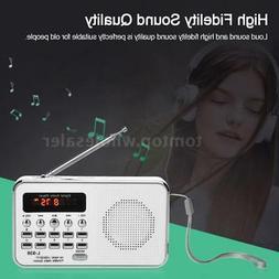 Portable Mini Pocket FM Radio Digital LCD Speaker MP3 Player
