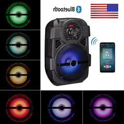 "Portable PA Karaoke Bluetooth Speaker w/ 8"" Subwoofer Sound"