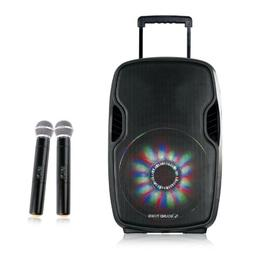 Sound Town 15-inch 2-Way Portable PA Speaker with Built-in R