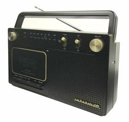 Studebaker Portable Retro Home Audio Stereo AM/FM Radio & Ca