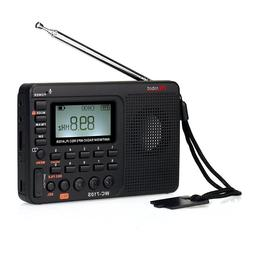 Portable Shortwave AM/FM Stereo Radio with MP3 Player and Sl