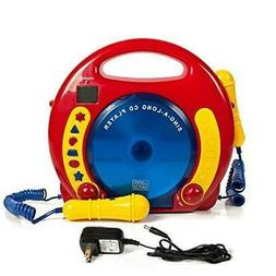 Portable Sing Along CD/USB/SD player Anti skip, with 2 Micro