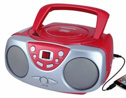 Sylvania Portable Stereo Boombox CD Player AM/FM Radio AUX-I