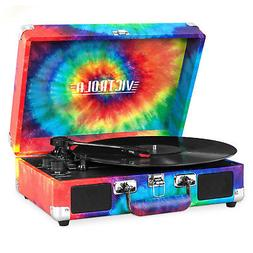 Victrola Portable Suitcase Record Player with Bluetooth - Ti