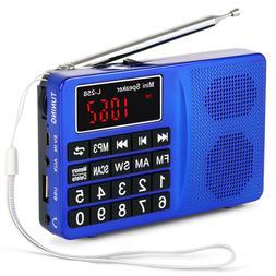 PRUNUS Portable SW/FM/AM(MW)MP3 Micro SD USB radio with