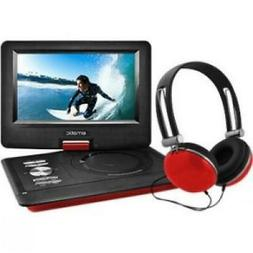 "Ematic 10"" Portable Swivel Screen DVD Player w/ Headphones -"