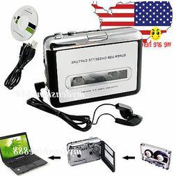 Portable USB Cassette Tape to MP3 iPod CD Converter Capture