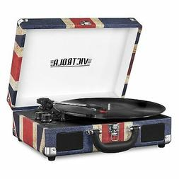 Victrola Bluetooth Portable Suitcase Record Player w/ 3-spee