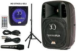 """Alphasonik 8"""" Powered 1200W PRO DJ Amplified Loud Speaker Bl"""
