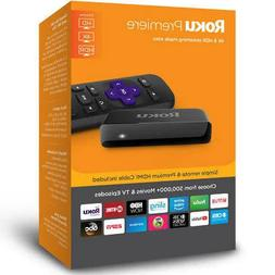 Roku Premiere 3920R 4K Streaming Media Player - Black New -