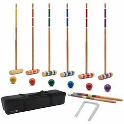 Premium 6-Player Croquet Set for Adults & Kids