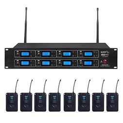Pyle Professional 8 Channel UHF Wireless Microphone & Receiv