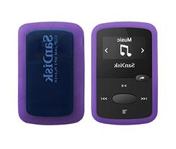 Purple Rubber Soft Silicone Skin Cover Case for Sandisk 8GB