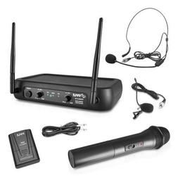 Pyle PDWM2140 VHF Fixed Frequency Wireless Microphone System