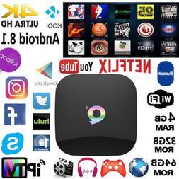 Q Plus Android 8.1 TV BOX 4GB+64GB H6 Quad Core 6K HD Media