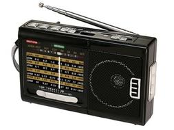 QFX R-39 Rechargeable AM/FM/SW1-SW7 10-Band Portable Radio +