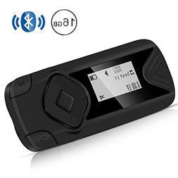 AGPTEK R1S 16GB Bluetooth MP3 Player, Clip Lossless Music Pl