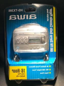 RARE VINTAGE NEW NOS AIWA Portable Cassette Player AM/FM Rad