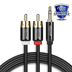 RCA Audio Cable Tuwejia Super HD 3.5mm AUX to 2RCA 6Feet Y S