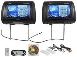 "Rockville RDP931-BK 9"" Black Car DVD/USB/HDMI Headrest Mon"