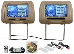 New Rockville RDP931-BG 9 Beige Car DVD/USB/HDMI Headrest Mo