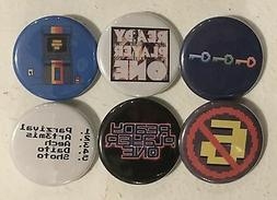 "Ready Player One Lot of 6 1 1/4"" Pinback Buttons or Kitchen"
