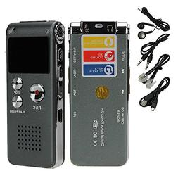eBoTrade 16GB Digital Rechargeable Voice Recorder Dictaphone