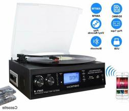 Record Player Built-in Stereo Speaker Bluetooth Vinyl Turnta