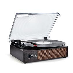 Record Player Portable Bluetooth LP Belt-Drive 3-Speed Turnt