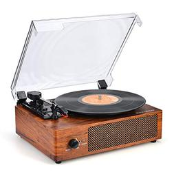 Record Player Turntable 3-Speed Bluetooth Vinyl Record Playe