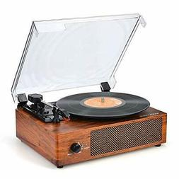 Record Player Turntable Vinyl Record Player with Speakers Tu
