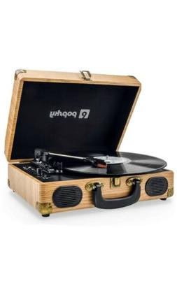 Popsky Record Player, Vintage Style, Bluetooth Record Player