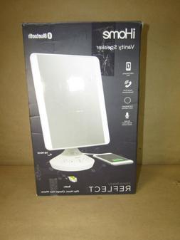 iHome Reflect Vanity Mirror with Bluetooth Speaker - White