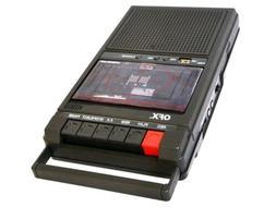 QFX RETRO-39 Shoebox Cassette Tape Recorder +AUX/USB +Built-