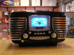Crosley Retro AM/FM Radio/Alarm w/snooze/CD PLAYER CR612 Dar
