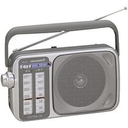 Panasonic RF-2400D AM / FM Radio, Silver/Grey
