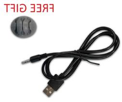 Ritz-Mart 3.5mm Male AUX Audio Jack To USB 2.0 Charge Cable